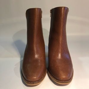 Lucky Brand Tan Heeled Leather Boot